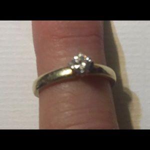 Promise Diamond 0.20 CT Ring 14 kt .